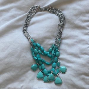 Chico's Turquoise Color Layered Necklace